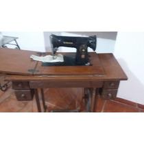 Maquina De Coser Singer Antigua Con Mueble