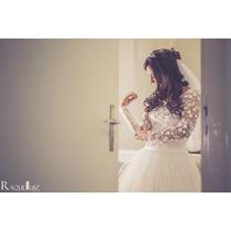Vestido De Noiva + Véu + Cauda Modelo Único