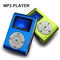 Mini Mp3 Player Com Fm Display E Cabo Usb
