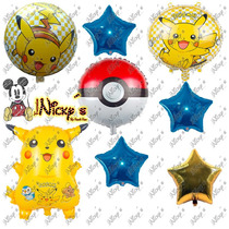 Paquete De Globos Picachu Pokemon Globo Decora Envio Gratis