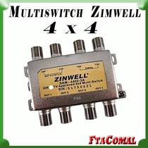 Multiswitch 4x4 Zinwell Fta Dir Tv Y Otros