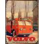 Cartel Chapa Publicidad Antigua 1946 Bus Volvo P243