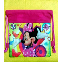 10 Morralitos Dulcero Mimi Minnie Mouse Y Mickey Mouse