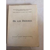 De Los Deberes , Marco Tulio Ciceron Bilingue Scriptorum