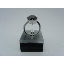 Jóia Anel Diamante Negro Moissanite 5.2cts Prata 925