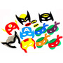 Máscaras Personalizadas Eva Super Heróis - 40 Pçs