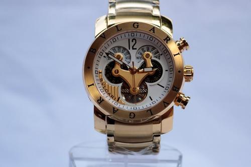 ff000ba5c13 relógio masculino bvlgari dourado automático - promoção. Carregando zoom.