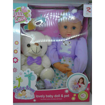 Muñeca Tutu Love Lovely Baby Doll & Pet Con Accesorios Bella