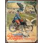 Cartel Chapa Publicidad Antigua Bici Bicicleta Peugeot M298
