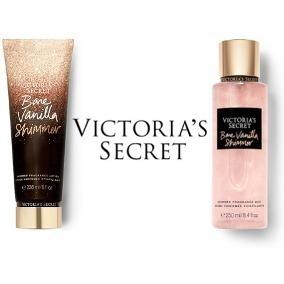 8b7fadcdea1 Body Mist Y Crema Bare Vanilla Shimmer De Victoria s Secret ...