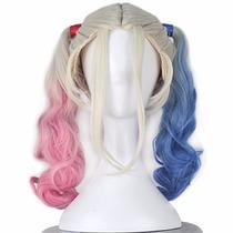 Disfraz Miss U Hair Two Colors Wavy Medium Long Curly Synthe