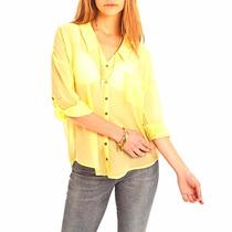 Camisa Mujer Noche Fiesta Amarilla Try Me Nueva Temporada