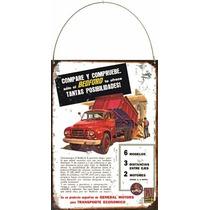 Cartel De Chapa Publicidad Antigua Camion Bedford L205