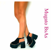 Zapato Sandalias Guillerminas Mujer Pretemporada De Goma