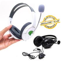 Fone Headset Com Microfone Controle De Volume Para Xbox 360