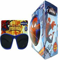 Coleção C/ Óculos De Sol Infantil E Bola Vinil Homem Aranha