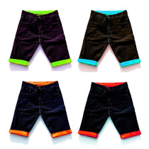 Kit 2 Bermudas Jeans Masculina Short Colorido Calção Atacado