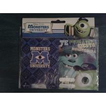 Tarjeta X 20 Invitacion Cumpleaños Infantiles Monsters Inc
