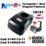 Carregador + Base P/bateria Orig Cd121br Tipo 3 Black&decker