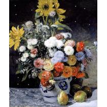 Lienzo Tela Auguste Renoir Flores Mezcladas 50 X 65 Cm