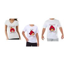 Kit Aniversário Angry Birds Camisas Festa Infantil Familia