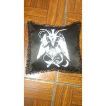 Cojines Decorativos De Baphoment Y Calaveras, Gotico, Metal