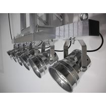 Vara Eletrica Refletores Pimbim Par 36 Tx 6 Foco Mesa Buffet