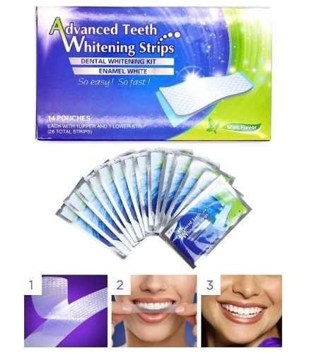 Fita Clareadora Dental Clareamento De Dente Whitestrips R 28