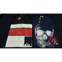 Kit C/ 5 Camisetas Masculinas Várias Marcas Promoção Atacado