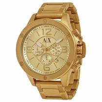 Relógio Armani Exchange Ax1504 Dourado Original Envio Grátis