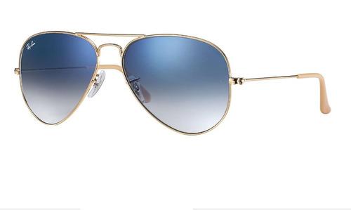 c67c390b3d04b Óculos Feminino Rayban Aviador 3025 Azul Degrade Envio 24h - R  109 ...