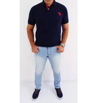 Calça Jeans E Sarja Masculina Skinny Com Lycra Grandes Marca