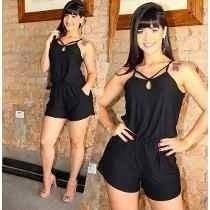 Macaquinho Viscolycra Moda Blogueira Alça Verão Juju Lindo