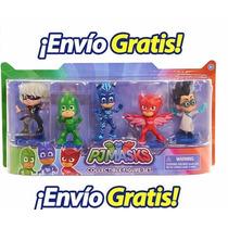 Pj Masks Set 5pz Héroes En Pijamas Envio Gratis +barato