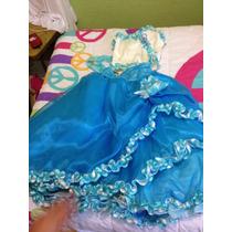 Hermoso Vestido Azul Para Niña