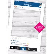 Marco Instagram Personalizado 90x60 Rigido + 10 Photobooth