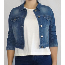 Camperas Mujer Jeans Elastizada Cortas Octanos - Ashmore