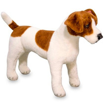 Perro Jack Russell Terrier De Peluche M&d 36 Cm Alto