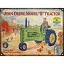 Cartel Chapa Publicidad Antigua Tractor John Deere Y270