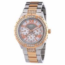 Relógio Feminino Guess W0111l4 Pulseira Em Aço-frete Grátis