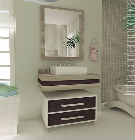 Gabinete arm rio banheiro bancada banheiro modelo 503 for Armario 80 cm