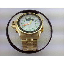 Relógio Masculino Atlantis Modelo Aqualand Serie Ouro