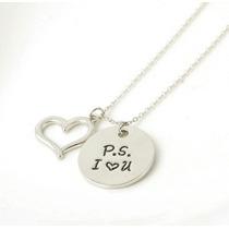 Collar Amor Te Amo Unisex P.s. I Love You Dama Mujer