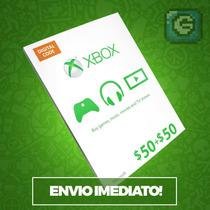 Cartão Xbox Live Gift Card $100 Dolares - Xbox One Ms Points