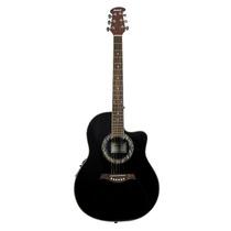 Guitarra Electroacústica Tipo Ovation Rmc Con Boca Negra