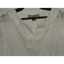 Blusa Liz Claiborne M.larga Calada Nueva Talla S