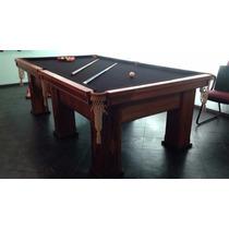 Mesa De Bilhar/snooker Oficial 2,56x1,42m