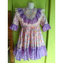 Vestido De Huasa, Niña, Talla 6/7 $3500