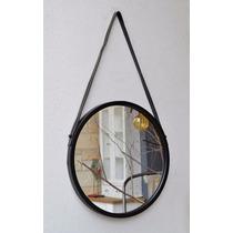 Espejo Redondo Marco Metálico 34cm Diámetro