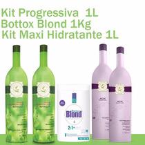 1 Progressiva Acai, 1 Kit Maxi Hidratante E 1 Bottox Blond